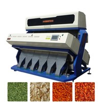 Dehydrated vegetables color sorter machine