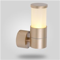 luxury gold color outdoor wall lamp aluminum waterproof LED wall light