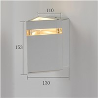IP 54 aluminum outdoor wall lamp triangle exterior LED wall light
