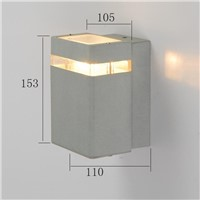 modern design outdoor wall lamp square aluminum LED wall light