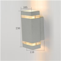 popular design waterproof square outdoor aluminum LED wall lamp