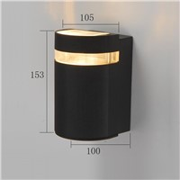 popular design semi-round outdoor wall light LED aluminum wall lamp