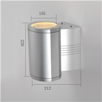 pure aluminum outdoor wall lamp waterproof exterior wall light for hotel project