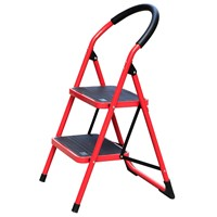 steel step ladders 2treads step stairs steel pipe made trestle for household using WG604-2C