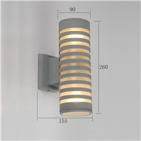 energy saving outdoor up and down wall light aluminum glass wall lamp