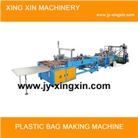 Multifunctional hot sealing hot cutting bag making machine