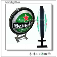 Round Model Waterproof Advertising Sign Board