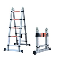 telescopic ladders 10.49feet high double-using telescoping portable folding foldable flexible stairs