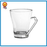 Clear Glass Coffee Mug With Metal Handle
