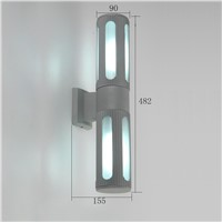 waterproof  IP54 outdoor wall light aluminum exterior LED wall lamp