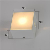 IP 54  waterproof aluminum outdoor wall light square wall lamp