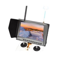 "8""built-in battery 800*480 HDMI AV FPV Monitor dual 32CH 5.8GHz diversity receivers"