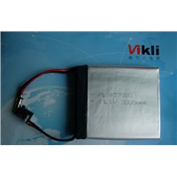 Lithium Ion Polymer Battery 11.1V 407580--3000mah, 11.1V Li-ion Rechargeable Battery