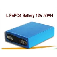 Lithium Iron Phosphate Battery 12V 50Ah LiFPO4 Battery Pack, Rechargeable Battery