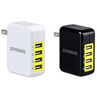JoyNano 21W 4-Port USB Travel Charger 5V 1A 2.1A Folding Plug