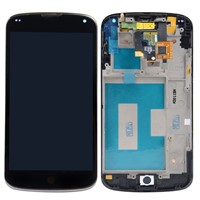 New LCD Display+Touch Digitizer+Frame Assembly Screen For LG Google Nexus 4 E960