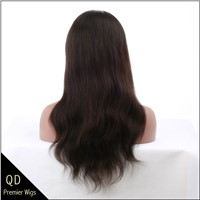 Indian remy hair natural straight full lace wigs,