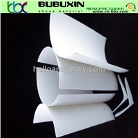 Nonwoven chemical sheet for making shoes toe puffs