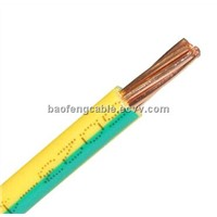 Yellow Green Earth Grounding Cable and Wire