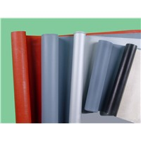 glass fiber cloth with silicone rubber coating(red and grey