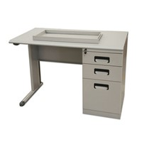 High quality commercial furniture single side drawers steel office desk