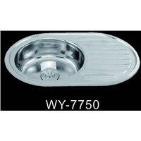 Lithuania Hot Sale Single Bowl Single Drainboard Stainless Steel Sink 7750