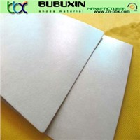 Shoes uppers and toe puffs nonwoven chemical glue sheet toe puff sheet