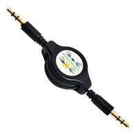3.5mm jack stereo retractable audio cable for car