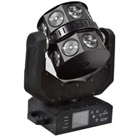 New Arrival 16pcs*10W Cree RGBW 4in1 LED Moving Head Double Beam Flying Light For Disco Event Party