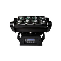 Hot Sale Amazing Effect 8pcs*10W 4in1 RGBW LED Moving Head Spider Light,Beam Light 10/36CH