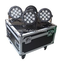 Slim PAR Pro LED HEX 6IN1 RGBWA+UV disco stage light with road case Flight case (CS12x8PAR)