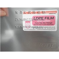 Transparent diamond shape PE film manufacturer