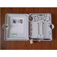 outdoor/indoor FTTH Fiber optic plastic Distribution box 12core waterproof IP55 PC/ABS