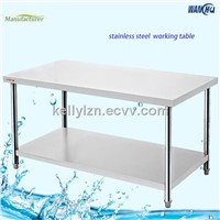 All Stainless Steel Kitchen work Table with Backsplash and under shelf