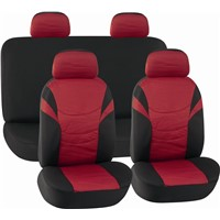 CAR SEAT COVERS RED & BLACK Printing Cloth HY-S1024