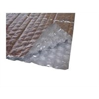 Double bubble foil reflective insulation material