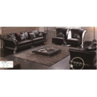 Furniture Cheap Genuine Leather Sofa (L. 3080)