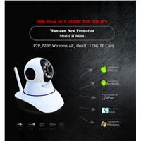 HD 720P Onvif IR-CUT Indoor use Support max 128G TF Card P2P IP Camera Welcome the OEM/ODM