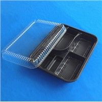 Microwavable black food container