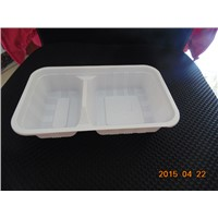 PP white food packaging tray