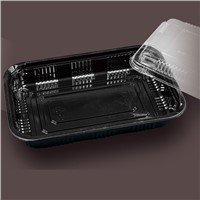 black food packaging container boxes