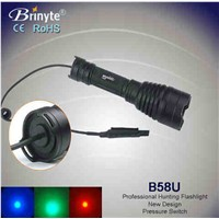 Brinyte 500m beam led tactical flashlight