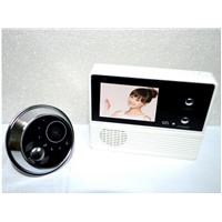 digital door peephole viewer, door bell ring with camera