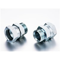 BSP MALE DOUBLE USE FOR 60Degree CONE SEAT OR BONDED SEAL / JIC FEMALE 74 Degree SEAT