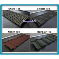 Steel Material and Clasical tile Type Stone Coated Metal Roofing Tile