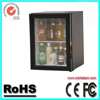 Hotel 40L Glass Door Mini Bar Cooler with CE