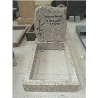 headstone granite monument with kerb