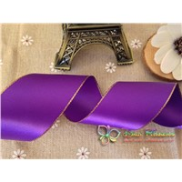 Gold Edged Satin Ribbon