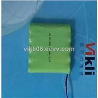 Ni-MH battery AAA300 6.0V 300mah for lighting lamp,emergency light,electric toys etc.