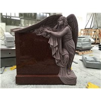 Indian imperial red granite angel tombstones